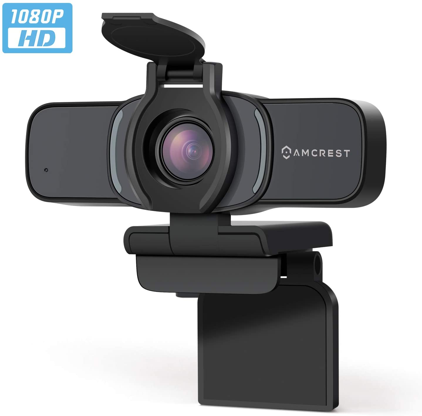 Amcrest 1080P Webcam with Microphone & Privacy Cover, Web Cam USB Camera, Computer HD Streaming Webcam for PC Desktop & Laptop w/Mic, Wide Angle Lens & Large Sensor for Superior Low Light (AWC201-B)