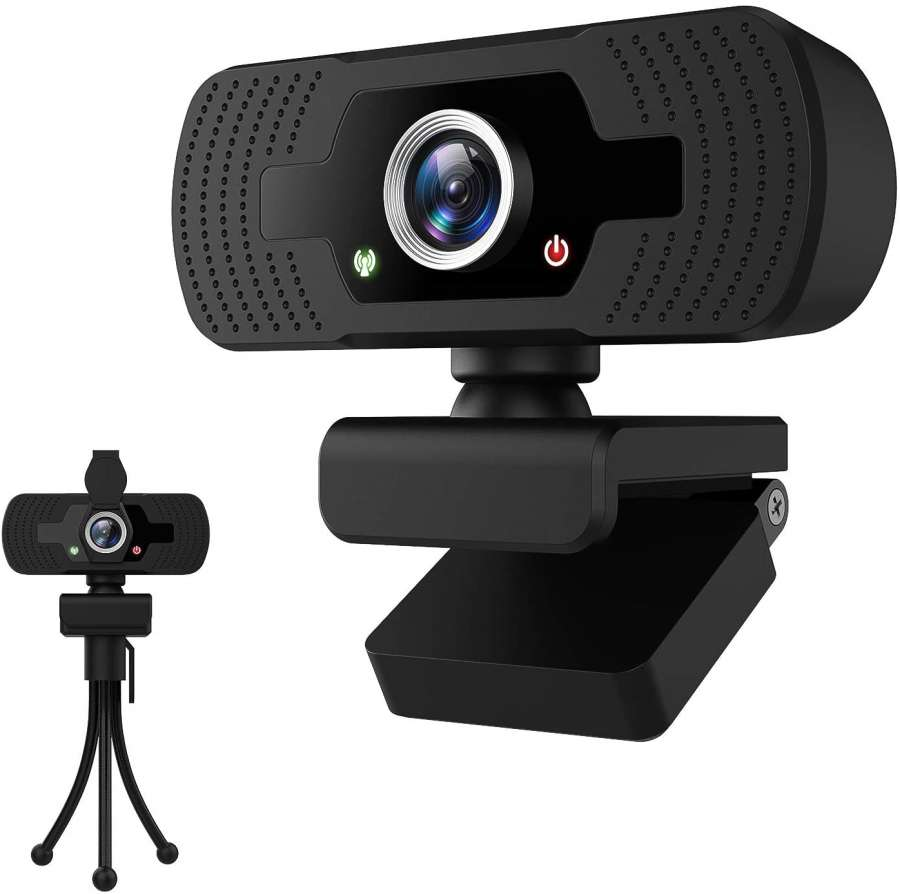 HD 1080p Webcam with Microphone for Desktop